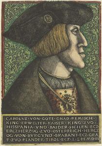 Daniel Hopfer I and Hieronymus Hopfer, 'Charles V, Holy Roman Emperor', 1521