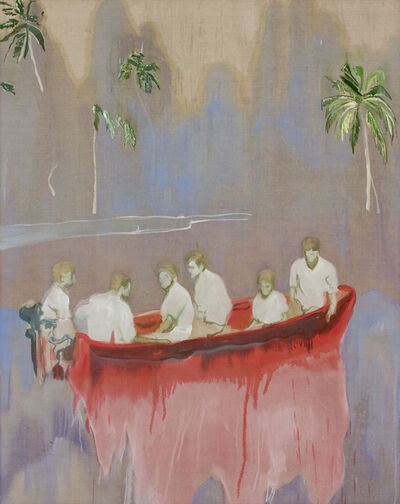 Peter Doig, 'Figures in Red Boat', 2005-2007