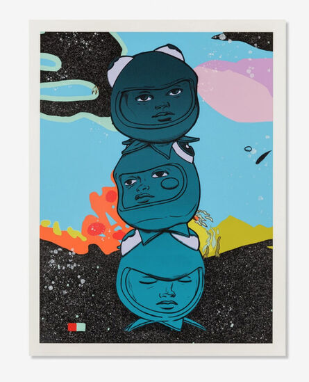 Hebru Brantley, '3 The Hard Way', 2020