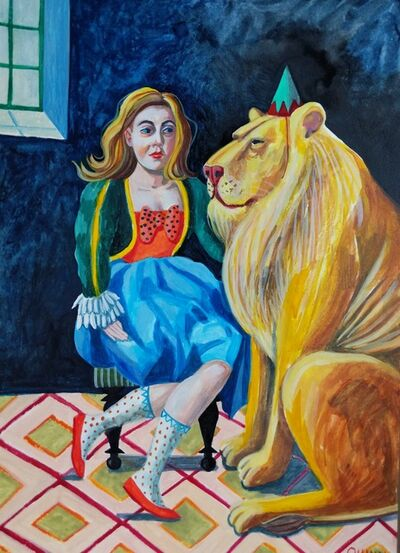 Jess Quinn, 'A Girl And Her Lion', 2019