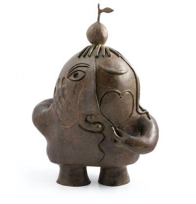 Juan Ripollés, 'Figura con manzana y corazón', ca. 2000