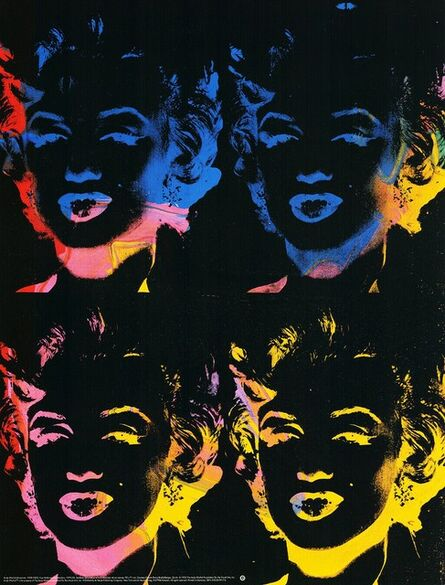 Andy Warhol, 'Four multicolored Marilyns (Pop Art)', 1992