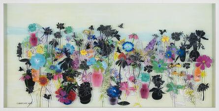 Gail Norfleet, 'Wildflowers and Hummingbird Moths', 2015