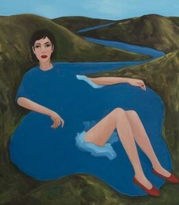 Becky Kolsrud, 'Bather with Red Shoes ', 2018