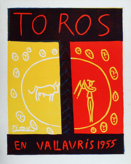 Pablo Picasso, 'Toros en Vallauris 1955', 1955