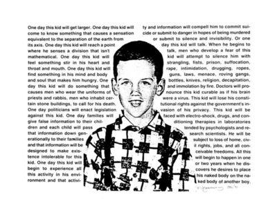 David Wojnarowicz, 'Untitled (One day this kid. . .)', 1990/2012