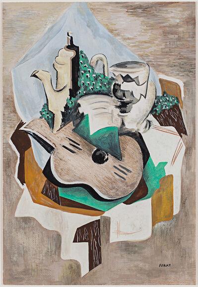 Serge Férat, 'Nature morte à la cafetière et à la guitare', ca. 1918