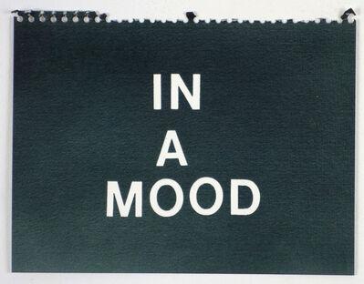 Betty Tompkins, 'In a Mood (black)'