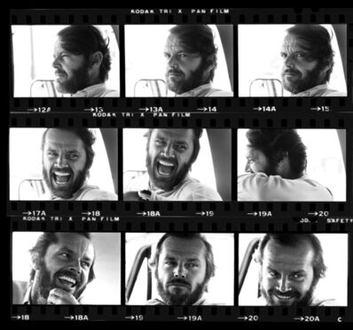 Harry Benson, 'Jack Nicholson Contact Sheet', 1976