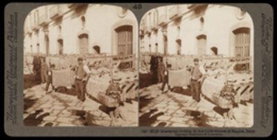 Bert Underwood, 'Macaroni drying, Naples', 1900
