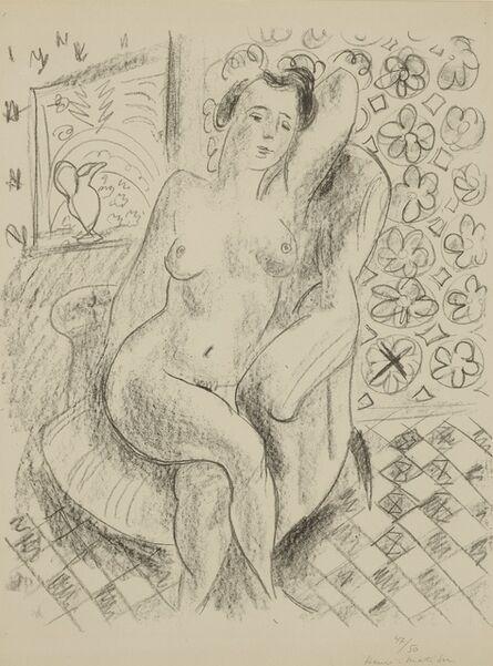 Henri Matisse, 'Nu au fauteuil sur fond moucharabieh (D. 470)', 1925