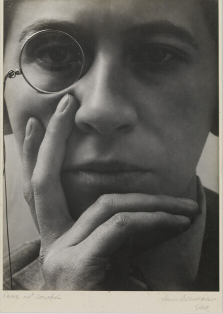 Aenne Biermann, 'Woman with Monocle (Dame mit Monokel)', 1928