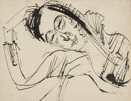 Ernst Ludwig Kirchner, 'Resting Head', 1912