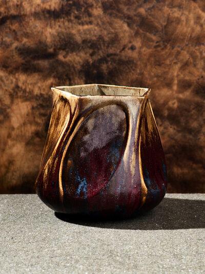Pierre Adrien Dalpayrat, 'Pentagonal Twist Vase', 1904