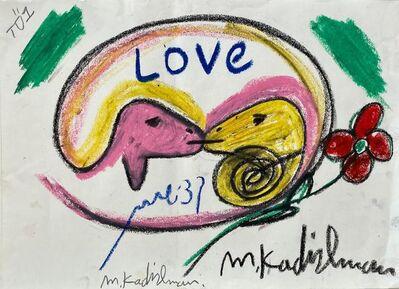 Menashe Kadishman, 'Kissing Goats', Late 20th century