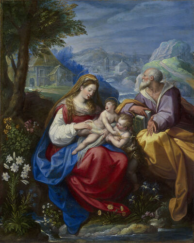 Jacopo Zucchi, 'The Holy Family with the Infant Saint John the Baptist'