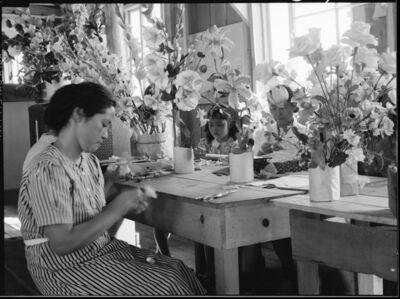 Dorothea Lange, 'Making Flower', 1942