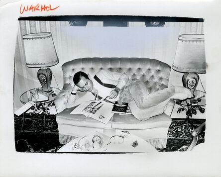 Andy Warhol, 'Andy Warhol, Photograph of Fred Hughes on Sofa, 1986', 1986