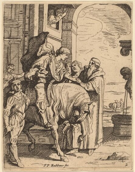 Theodoor van Thulden after Sir Peter Paul Rubens, 'The Prodigal Son Bids Farewell to His Father'