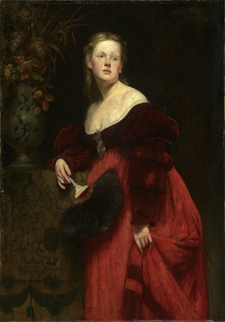 Hans Makart, 'Portrait Karoline Gomperz', about 1870