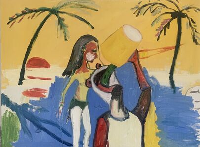"""Federico Luger, 'A beer on the beach """"Painting""""', 2020"""