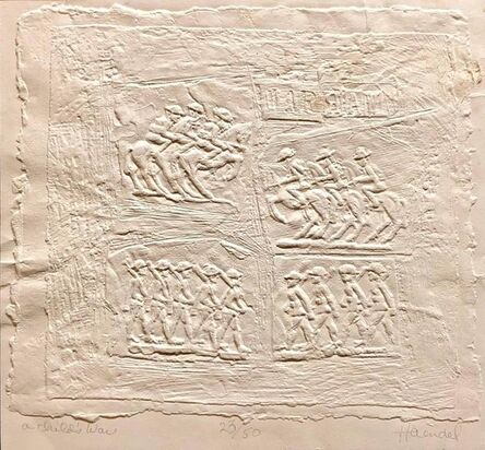 William Haendel, 'Bill Haendel Americana 'A Child's War' Cast Paper Relief Sculpture', 1970-1979