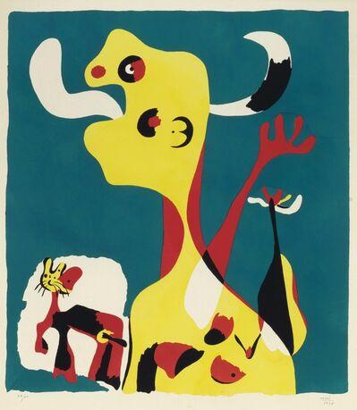 Joan Miró, 'Femme et chien devant la Lune', 1935