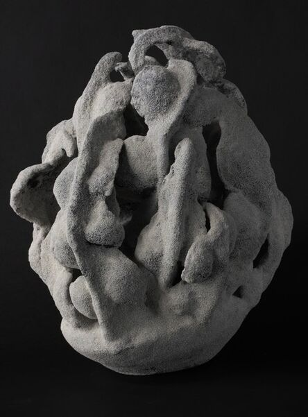 Katsumata Chieko, 'White chamotte-encrusted biomorphic sculpture in the form of a coral', 2015
