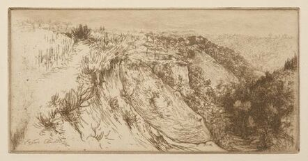 Edgar Chahine, 'La vallée fertile, près Monte Oliveto Maggiore', 1906