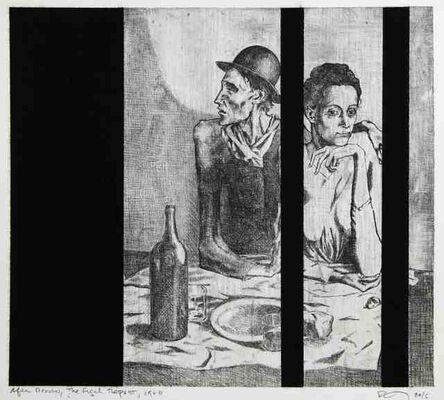 Robert Longo, 'Untitled (After Picasso, The Frugal Repast, 1904)', 2016