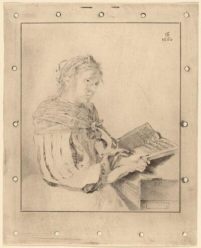 Cornelis Ploos van Amstel and Johannes Kornlein after Gerrit Dou, 'Young Girl at the Keyboard', 1767