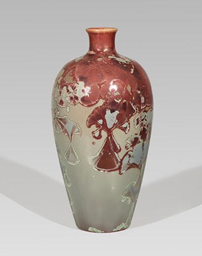 Hongwei Li, 'Mei ping vase, reduction fired, traced ink splash glaze', 2017