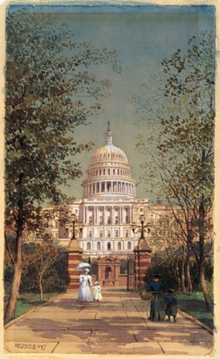 Walter Paris, 'A Stroll by the Capitol', 1897