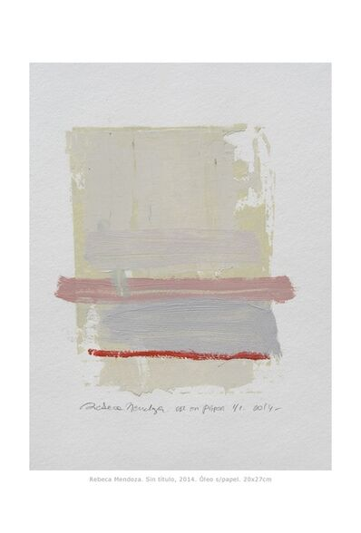 Rebeca Mendoza, 'Untitled', 2014