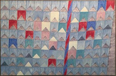 Alfredo Volpi, 'Mastros e bandeiras', ca. 70