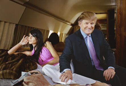 Martin Schoeller, 'Donald and Melanie Trump on their Jet', 2004