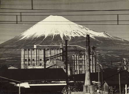 Gen Otsuka 大束 元, 'Mt.Fuji From a Train, Near Fujinomiya', 1955