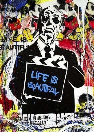 Mr. Brainwash, 'Hitchcock (Life is Beautiful)', 2015