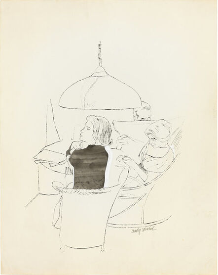 Andy Warhol, 'Ohne Titel (Three Figures Seated at a Round Table)', ca. 1958