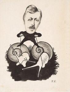 Félix Vallotton, 'Portrait d'Emile Yung', ca. 1893