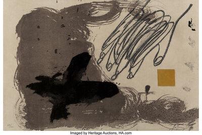 Antoni Tàpies, 'Untitled from Portfolio 12th Anniversary of Galeria Joan Prats', 1988