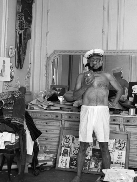 André Villers, 'Picasso as Popeye, Cannes, France', 1957