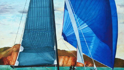 Kay Bradner, 'Blue Spinnaker'