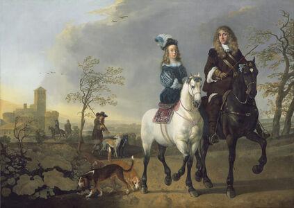 Aelbert Cuyp, 'Lady and Gentleman on Horseback', ca. 1655-reworked 1660/1665