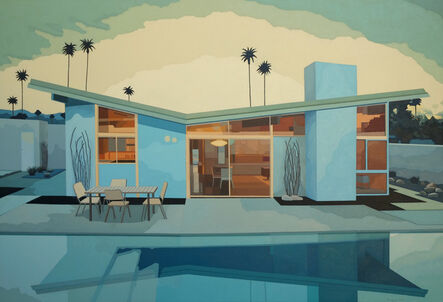 Andy Burgess, 'Butterfly House with Pool, Palm Springs', 2015