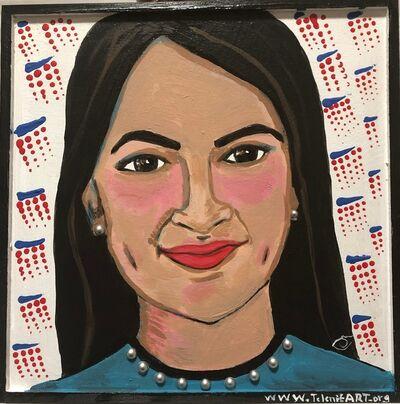 Selene Nunez-Cruz, 'Portrait of AOC', 2019