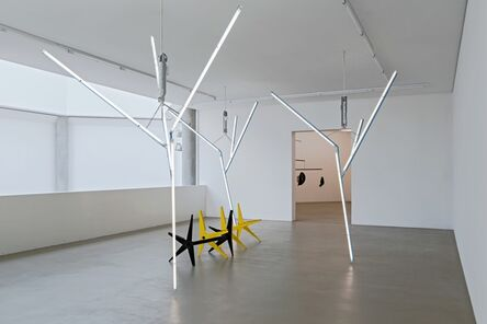 Martin Boyce, 'Our Love is Like the Flowers, the Rain, the Sea and The Hours (Black and Yellow Benches with Trees)', 2002