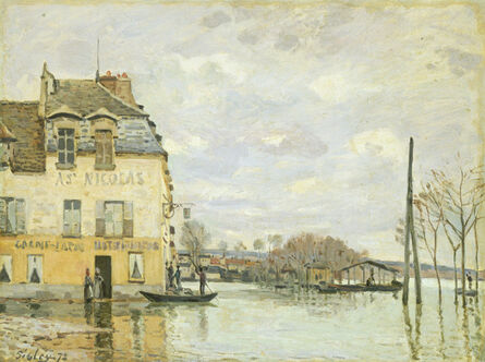 Alfred Sisley, 'Flood at Port-Marly', 1872