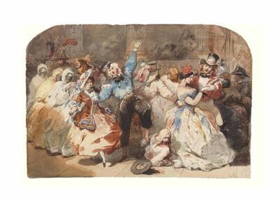 Eugène-Louis Lami, 'Le chahut au bal de l'Opéra', 1851