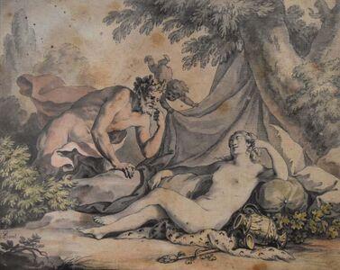 Antoine Borel, 'A sleeping Nymph and a Satyr', ca. 1780